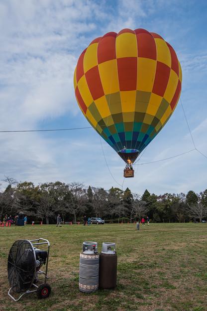 気球に乗って、、、