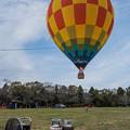 写真: 気球に乗って、、、