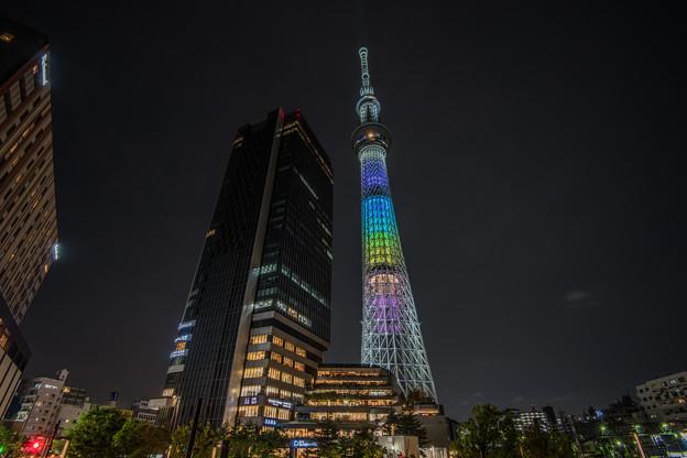 東京スカイツリータウン7周年特別ライトアップ