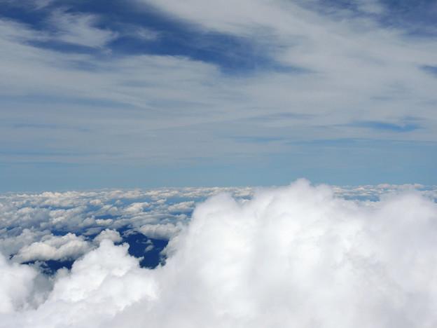 雲の上と雲の下