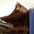 写真: 山門の大改修