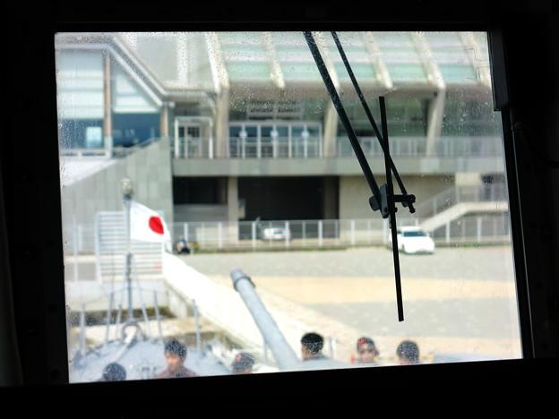 ミサイル艇の艦橋から。