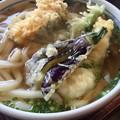 写真: 帰ったらまずうどん。遅めのお昼はかわたうどんで天ぷらうどん。 存在...