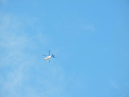 ツール・ド・フランスさいたまクリテリウム撮影のヘリ