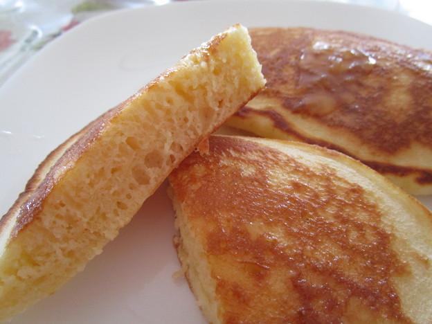 中力粉で作ったパンケーキ