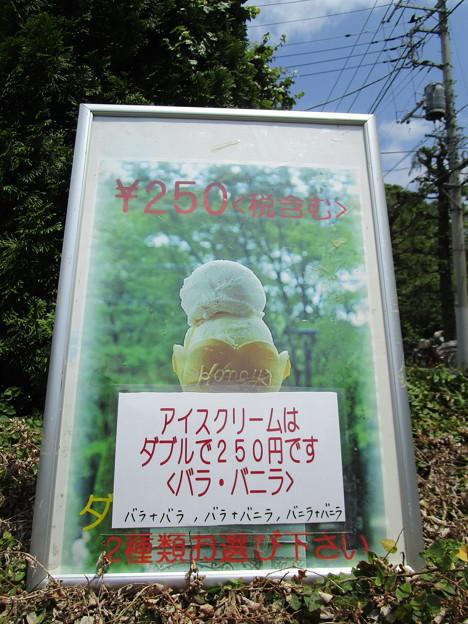 アイスクリームはダブルで250円