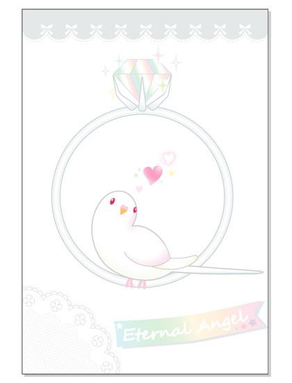 098ポストカード/Eternal ring/セキセイ・アルビノ