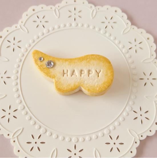 n009マグネット/羽型クッキー/クリア
