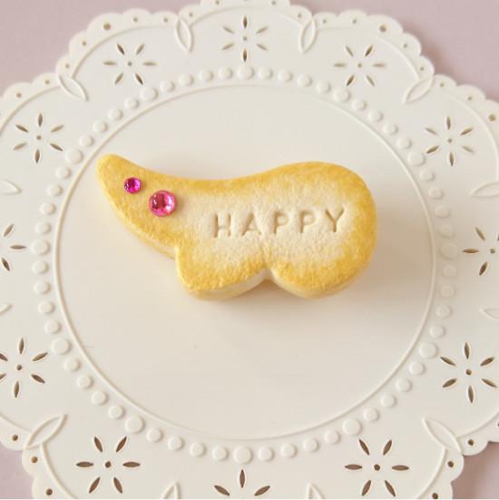 n010マグネット/羽型クッキー/ピンク