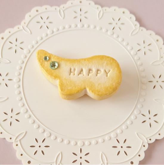 n006マグネット/羽型クッキー/グリーン