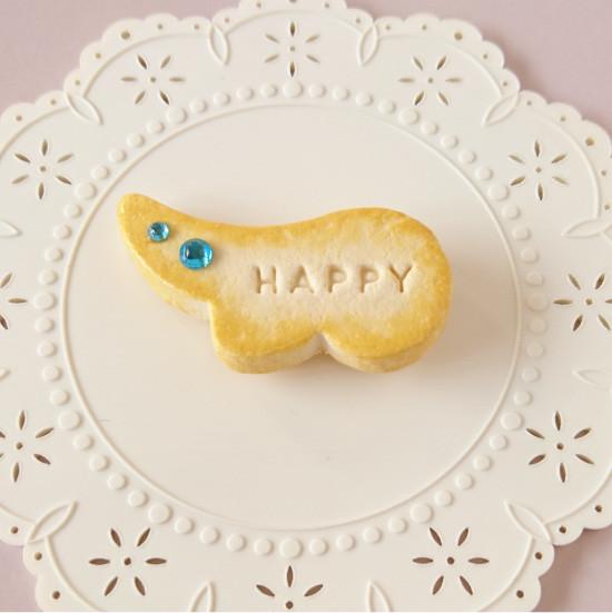 n007マグネット/羽型クッキー/ブルー