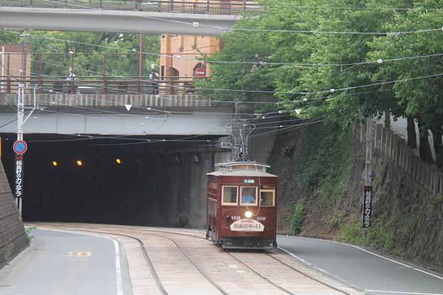 桜橋の下から出てきた168号