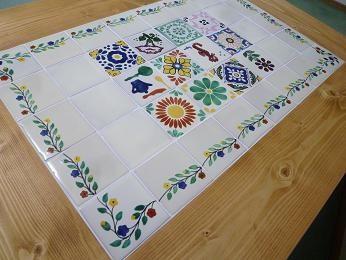 メキシコタイルのコタツ&ローテーブル