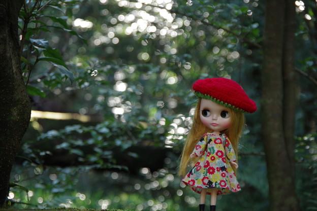 赤い帽子の女の子