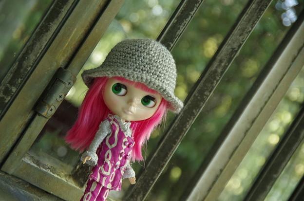 ピンク髪の少女