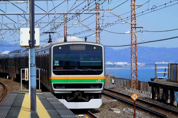東海道線根府川駅