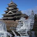 氷彫フェスティバル(松本城)