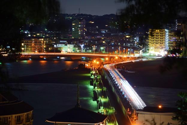 江ノ島大橋 #湘南 #藤沢 #海 #波 #江ノ島 #enoshima #nightview #夜景