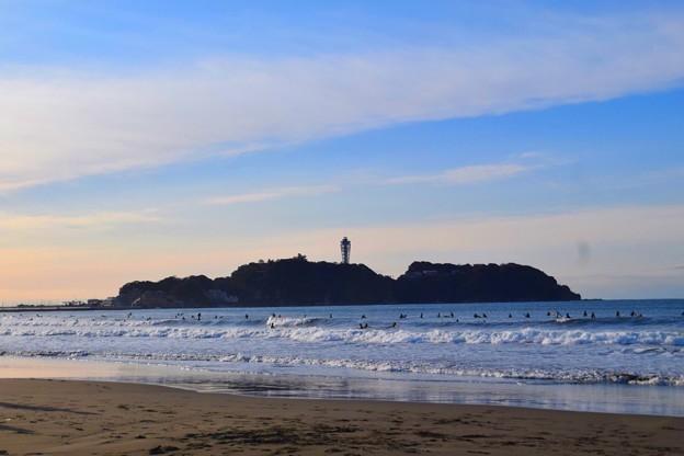 今朝の江ノ島 #湘南 #藤沢 #海 #波 #surfing #wave #mysky