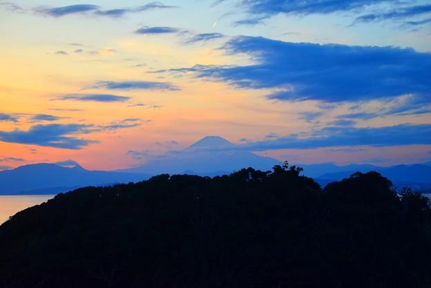 江ノ島からの富士山 #湘南 #藤沢 #海 #surfing #江ノ島 #イルミネーション #富士山 #mtfuji