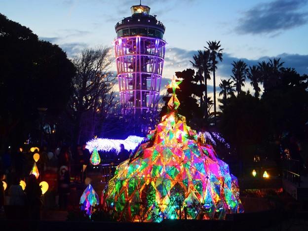 光のアートとシーキャンドル #湘南 #藤沢 #海 #surfing #江ノ島 #イルミネーション #art #illumination