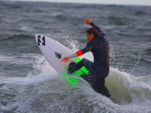 夕方はオンショアに変わった湘南・鵠沼海岸 #湘南 #藤沢 #海 #波 #wave #surfing #mysky