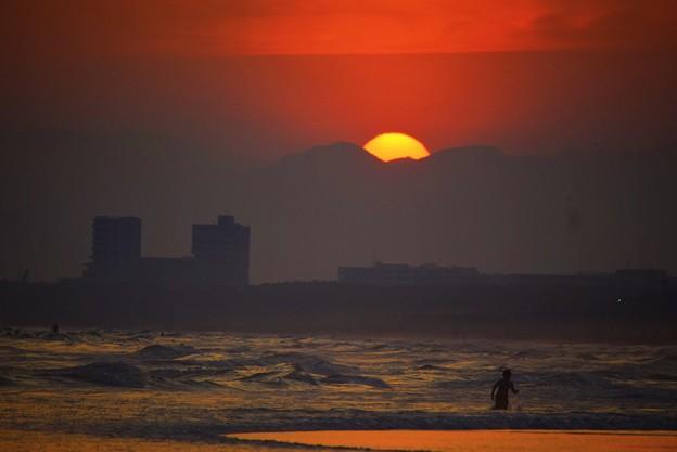 湘南・鵠沼海岸のサンセット #湘南 #藤沢 #海 #波 #wave #surfing #mysky