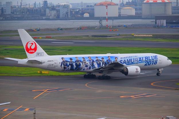JAL SAMURAI BLUE 応援ジェット #東京 #東京国際空港 #羽田空港 #airport #jal #samuraiblue