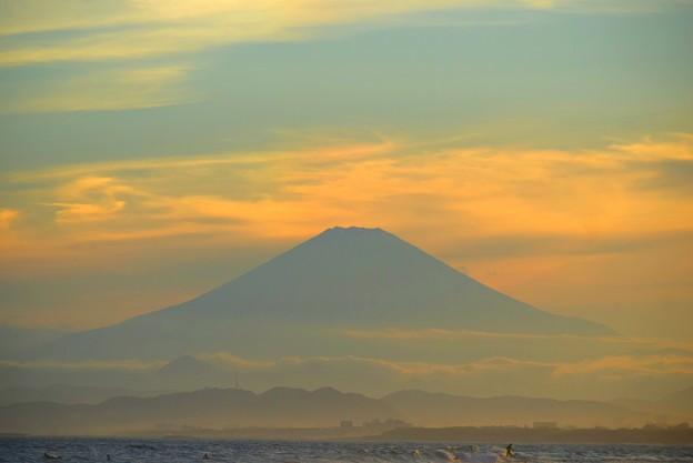 湘南・鵠沼海岸からの富士山 #湘南 #藤沢 #海 #波 #wave #surfing #mysky #fujisan #mtfuji #富士山