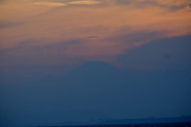 夕方になって見えた富士山 #湘南 #藤沢 #海 #波 #wave #surfing #mysky #fujisan #mtfuji #富士山