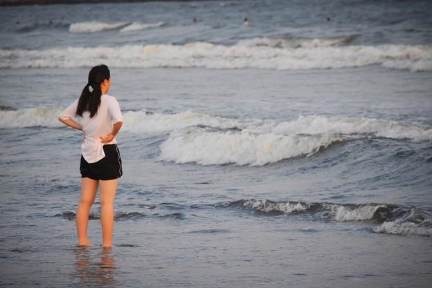 台風のうねりが届く湘南・鵠沼海岸 #湘南 #藤沢 #海 #波 #wave #surfing #mysky