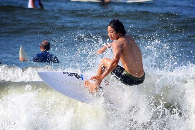 風は弱いオンショアの湘南・鵠沼海岸 #湘南 #藤沢 #海 #波 #wave #surfing #mysky #beach