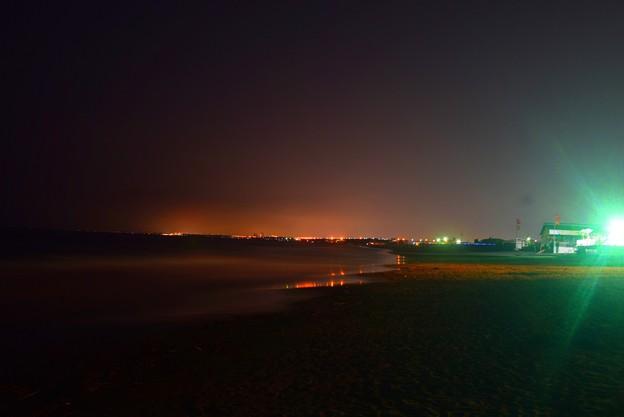 夜の湘南・鵠沼海岸 #湘南 #藤沢 #海 #波 #nightview #夜景 #surfing #mysky #beach