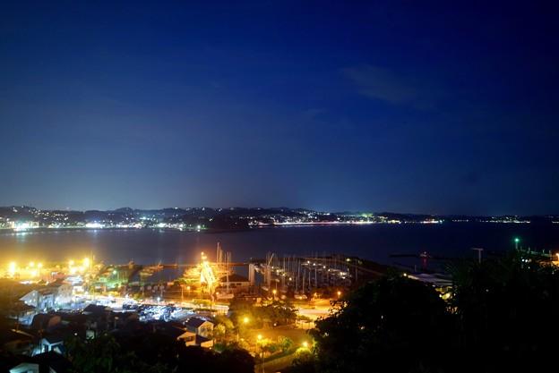 湘南港と鎌倉方面の夜景 #湘南 #藤沢 #海 #lanterns #wave #灯篭 #mysky #夜景 #nightview