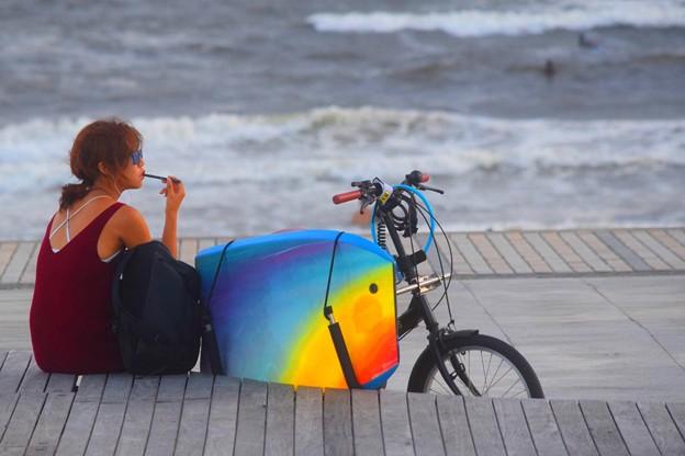 暮れゆく湘南・鵠沼海岸 #湘南 #藤沢 #海 #波 #wave #surfing #mysky #beach