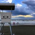 日没後の湘南・鵠沼海岸 #湘南 #藤沢 #海 #波 #wave #surfing #mysky #beach #shonan