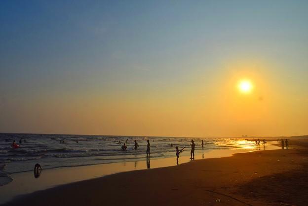湘南・鵠沼海岸の夕日 #湘南 #藤沢 #海 #波 #wave #surfing #mysky