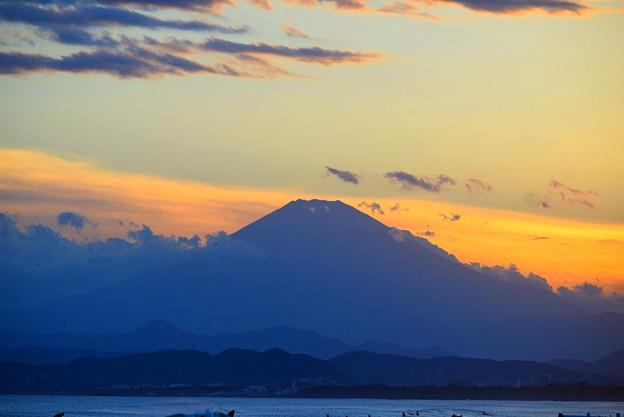 久々に見えた湘南・鵠沼海岸からの富士山 #湘南 #藤沢 #海 #波 #wave #surfing #mysky #fujisan #mtfuji #富士山
