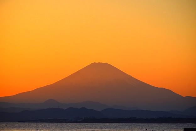久々にくっきり見えた湘南・鵠沼海岸からの富士山  #湘南 #藤沢 #海 #波 #wave #surfing #mysky #fujisan #mtfuji #富士山