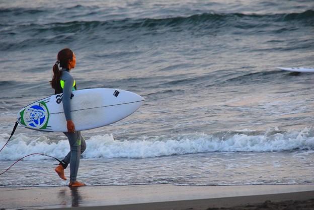 湘南・鵠沼海岸夕景 #湘南 #海 #波 #beach #surfinng #サーフィン #wave #mysky
