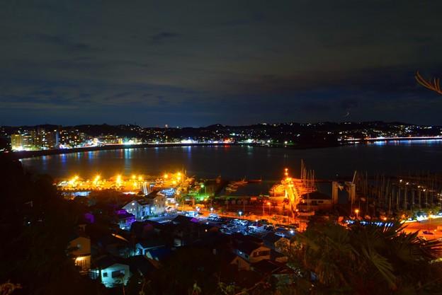 湘南港と鎌倉の夜景 #湘南 #藤沢 #海 #クリスマス #イルミネーション #wave #illumination #christmas #夜景 #nightview