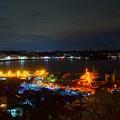 Photos: 湘南港と鎌倉の夜景 #湘南 #藤沢 #海 #クリスマス #イルミネーション #wave #illumination #christmas #夜景 #nightview