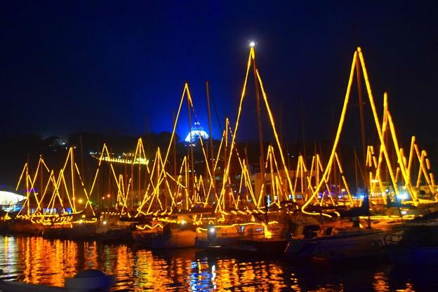 湘南港ヨットのイルミネーション #江ノ島 #湘南 #イルミネーション #クリスマス #illumination #christmas #merrychristmas