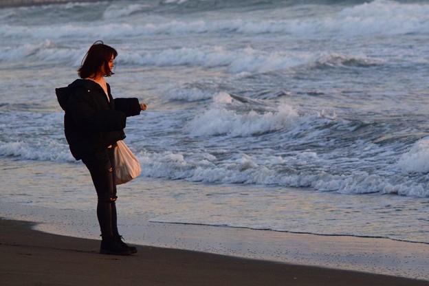 湘南・鵠沼海岸夕景 #湘南 #藤沢 #海 #波 #wave #surfing #mysky
