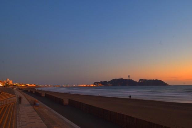 夕闇迫る江ノ島 #湘南 #藤沢 #海 #波 #wave #surfing #mysky