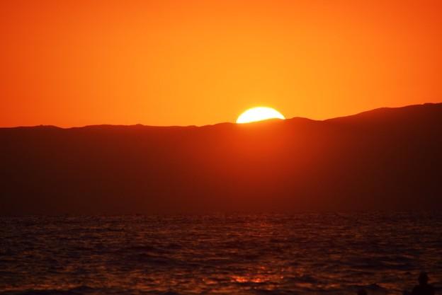 江ノ島からの日没 湘南 #藤沢 #海 #波 #wave #surfing #mysky