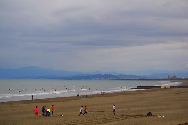 曇り空の湘南・鵠沼海岸  #湘南 #藤沢 #海 #波 #wave #surfing #beach #mysky #sky #sea