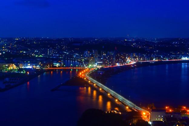 江ノ島大橋 #湘南 #藤沢 #海 #江ノ島 #wave #灯篭 #sea #夜景 #nightview #enoshima