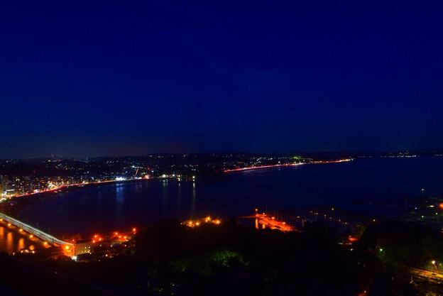 鎌倉の夜景 #湘南 #藤沢 #海 #江ノ島 #wave #灯篭 #sea #夜景 #nightview #enoshima