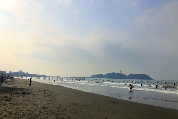 今朝の江ノ島 #湘南 #藤沢 #海 #波 #wave #surfing #sea #beach #mysky #サーフィン